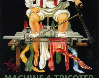 Sewing Machine a Tricoter Rectil Weaving Paris France French Vintage Poster Repro FREE SHIPPING in USA