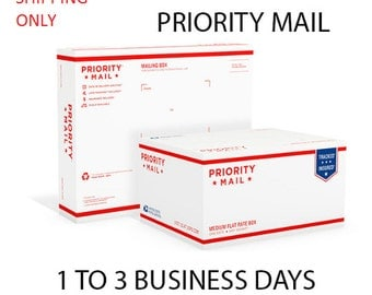 Upgrade shipping 1-3 business days USPS Priority Mail *Domestic Shipping Only*