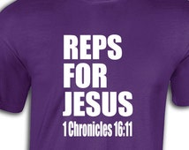 Reps for jesus t shirt tshirts t-shirt gift  graphic tee funny humor sayings Tank top longsleeve hoodie workout religous bible 39