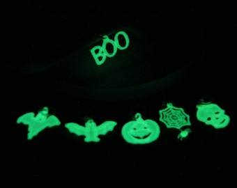 Halloween Charm GLOW in the DARK, Glow in the Dark Purse Charm, Glow in the Dark Halloween, FSL Glow in the Dark, Unique Glow in the Dark,