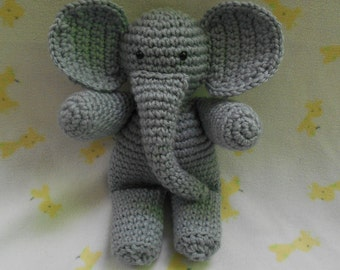 Crocheted Elephant Stuffed Animal