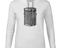 Mintage Trash Can Mens Fine Jersey Hooded T-Shirt