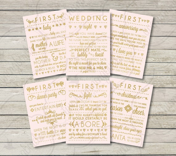 Wedding Gift Wine Tags Printable : Wedding Gift Wine Labels, Blush & Gold, First Anniversary, Bridal ...