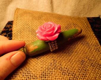 Funky Pink Rose Ring