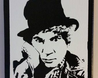 Harpo Marx  Stencil Spray Painting