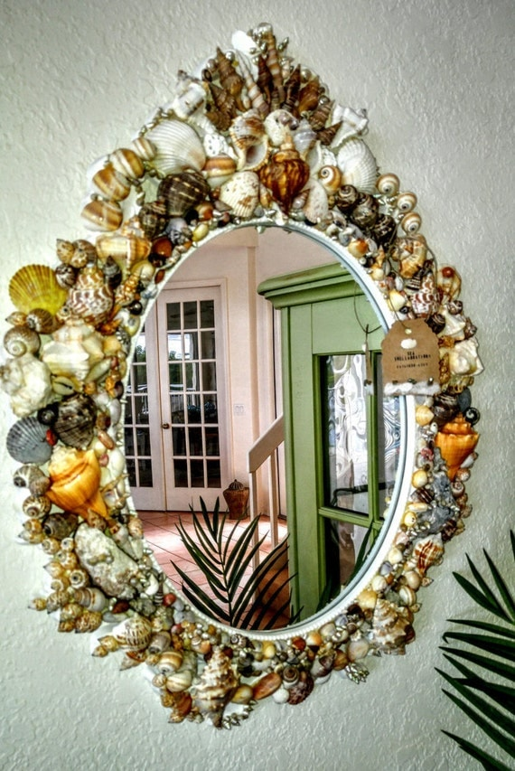 Large Seashell Wall Mirror