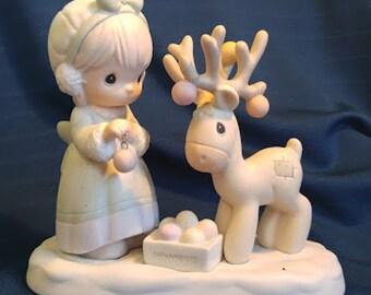 Merry Christmas Deer - Precious Moments Figurine