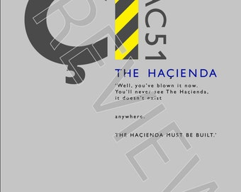 Tshirt - FAC51 The Haçienda: Must Be Built