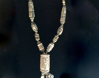 Mystical Carved Shaman Amulet Necklace