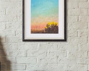 Original Painting Country Sunset