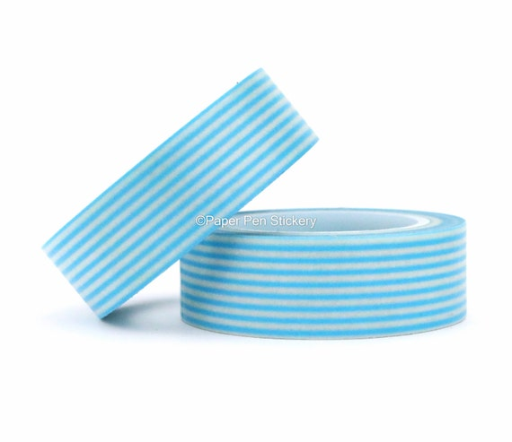 Blue Stripe Washi