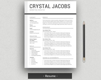 modern resume template for word cv template profressional resume design 2 page resume - 2 Page Resume