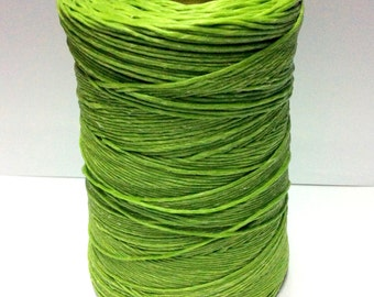 50 meters ≈ 55 yards - 1mm Light Green Waxed Cord - Cotton Waxed Cord