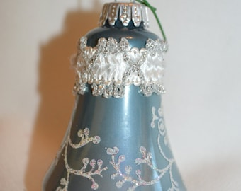 Vintage Krebs Blue Bell with Lace, Made in Germany, Victorian