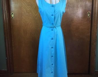 blue cotton sundress, c. 1960