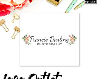 Modern Floral Premade Logo Design - Includes files for Web and Print! Perfect for Photographer, Blogger, Florist, Boutique + more!