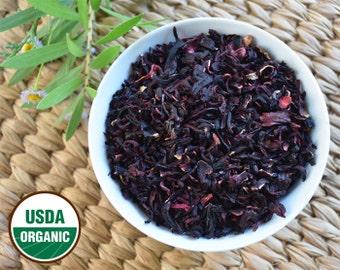 Organic Hibiscus Flowers Dried, Loose. Hibiscus Tea. Certified Organic. 2 oz