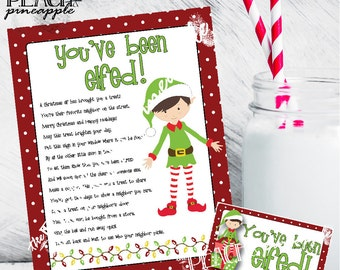You've Been Elfed Sign, Elfed Sign, Christmas Printable, Holiday Printables, Christmas Door Sign