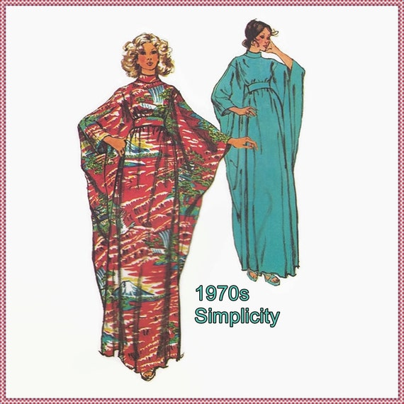 Sewing pattern vogue 5900 misses jiffy caftan one size 10 12