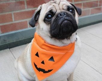 Halloween Dog Bandana, Halloween Dog Costume, Halloween Cat Bandana, Dog Bandana, Pumpkin Bandana, Dog Dress up, Dog Costume, Pumpkin Dog