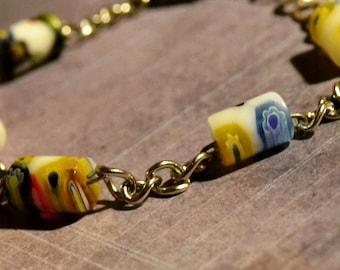 Flower Power Bead Bracelet