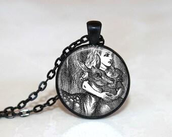 Alice in Wonderland Pendant  Alice in Wonderland Necklace Alice in Wonderland Jewelry