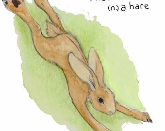 "Hare ""Misaabooz"" Ojibwe Greeting Card"