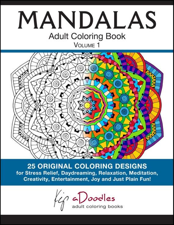 Mandalas To Color PRINTED BOOK Mandala Coloring Volume 1