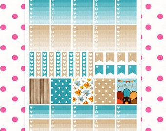 Erin Condren November Theme (Single Page) || Printable Planner Stickers || Instant Digital Download