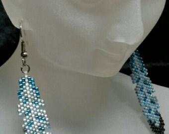 Blue Jay Feather Earrings - Ready To Wear