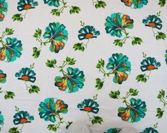 "Floral Printed Cotton Fabric Decorative Dressmaking Material 42""Wide Floral Fabric For Sewing Designer Supplies Fabric By 1 Yard  ZBC6080"