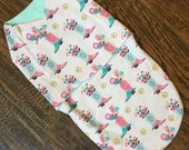Boots and Flowers Baby sleep sack, Swaddler, Newborn cocoon, Baby snuggler, Baby wrap, Baby Burrito, Wearable Blanket
