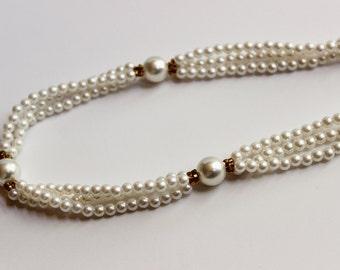 Pearl Strand Vintage Necklace