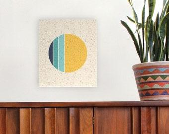Moon phase art, geometric art, modern art, circle art, canvas print, girls room, boys room, vintage art, modern moon, mid century modern art