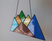 The Mountains Are Calling    Stained Glass Rainbow