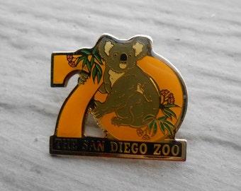 Vintage 70th Anniversary San Diego Zoo Pin. 1992