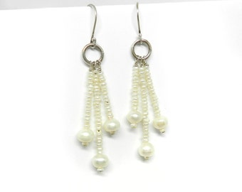 Angel Drops: Pearl Earrings