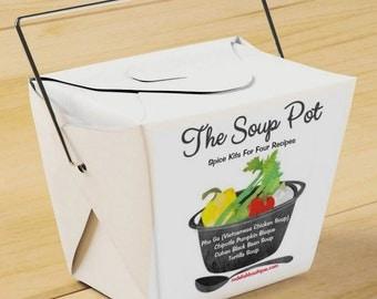 """Take-Out Gift Set """"The Soup Pot"""" Spice Kits"""