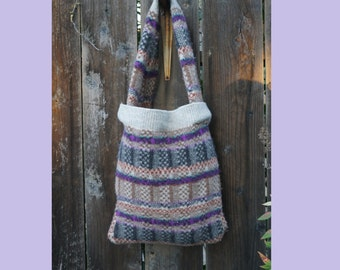 50% OFF UpCycled Wool Sweater Purse /Up-Cyled Handbag