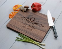 Personalized Cutting Board, Custom Cutting Board, Engraved Cutting Board, Monogrammed Cutting Board, Custom Wedding Gift --CB-WAL- TheGILLS