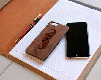 Personalized Iphone 6 case, Custom Iphone 6 case, Wood Iphone 6 case, Laser Engraved Iphone 6 Case, Walnut Iphone 6--IP6-Wal-Ronald