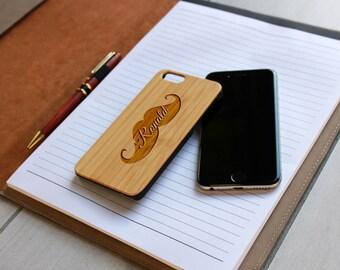 Personalized Iphone 6 case, Custom Iphone 6 case, Wood Iphone 6 case, Laser Engraved Iphone 6 Case, Bamboo Iphone 6 Case --IP6-BAM-Ronald