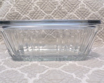 Anchor Hocking Clear Refrigerator Dish with lid