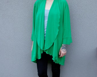 CLEARANCE 80's Vintage Floaty Top in Green