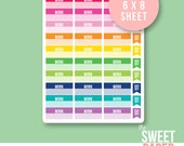 Work Schedule Planner Stickers | Bright Rainbow