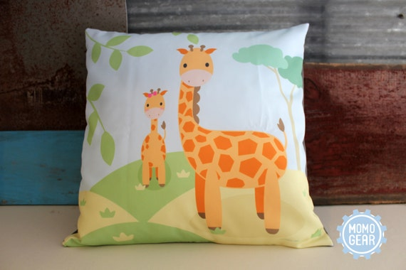 Giraffe Decorative Pillow : Giraffe Decorative Pillow Cover Couch Pillow Babys Room
