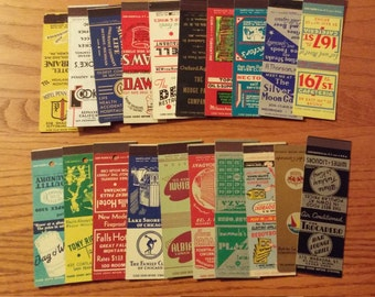 Vintage unstapled matchbook covers