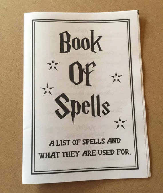 Impertinent image with regard to harry potter spells printable