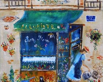 """Painting  """"Chez Flore"""""""