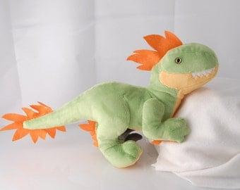 Raptor Custom Handmade Dinosaur Plushie
